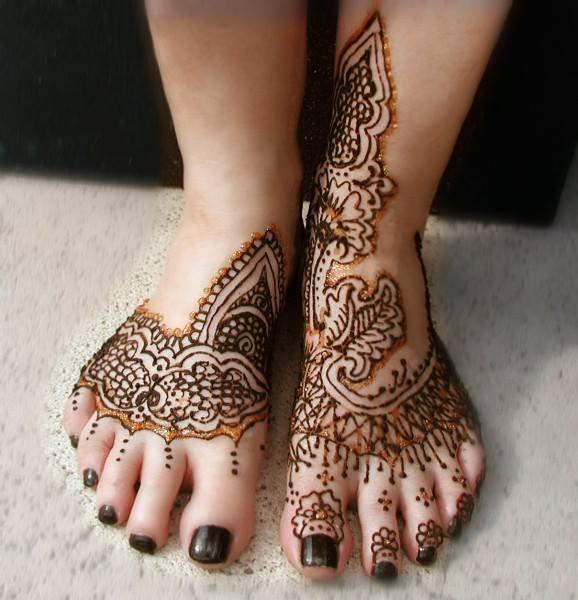 Mehndi Feet Quotes : Bridal foot art new henna mehndi designs xcitefun