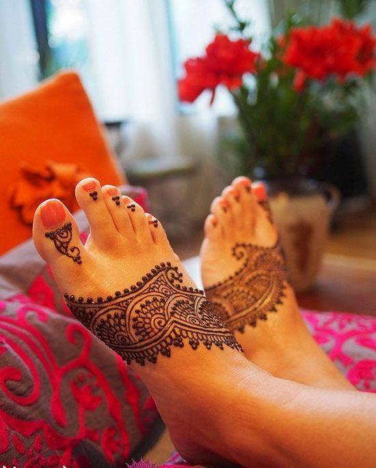 Mehndi Wallpapers Feet : Bridal foot art new henna mehndi designs xcitefun
