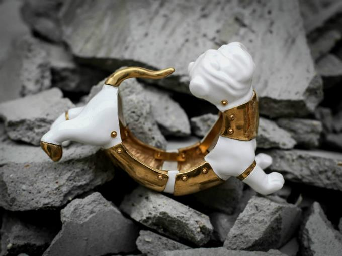 Ceramic Gold Jewelry Collection 2014 by Qian Yang