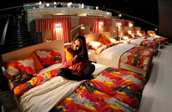 Romantic Movie Theater With Comfortable Bed In Russia