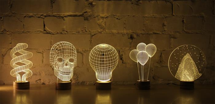 Beautiful 3D Lamps