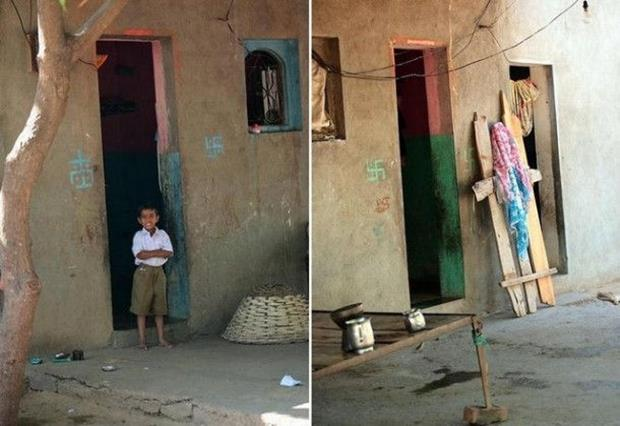 Shani Shingnapur Indian Village without Door Protection