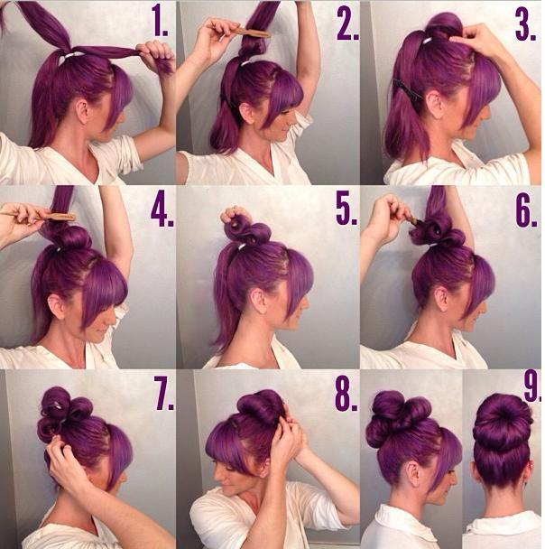 How To Make Flower Hair Bun