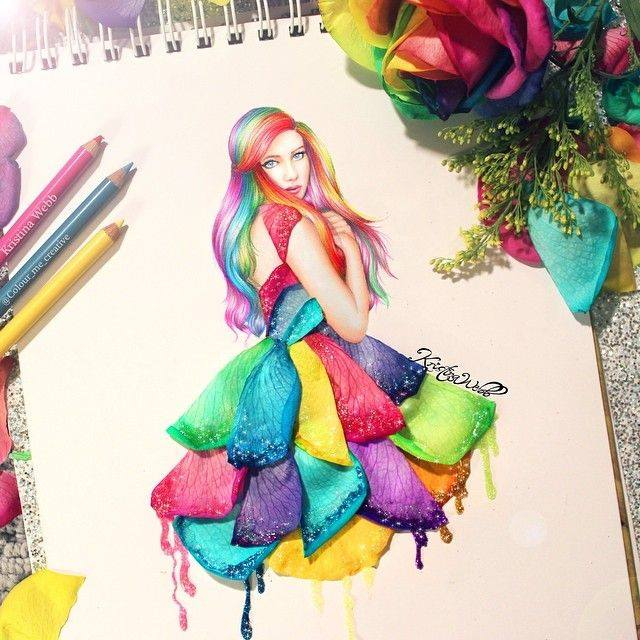 Color me creative kristina webb girlish artwork for Painting art ideas creative