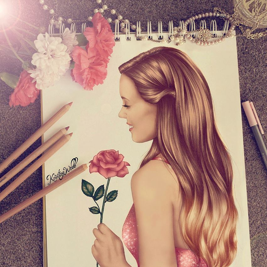 Best Pinterest Art: Kristina Webb Girlish Artwork