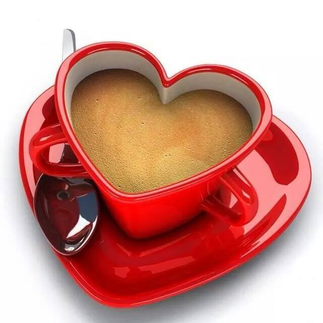 Heart Shaped Coffee Cup For Lovers