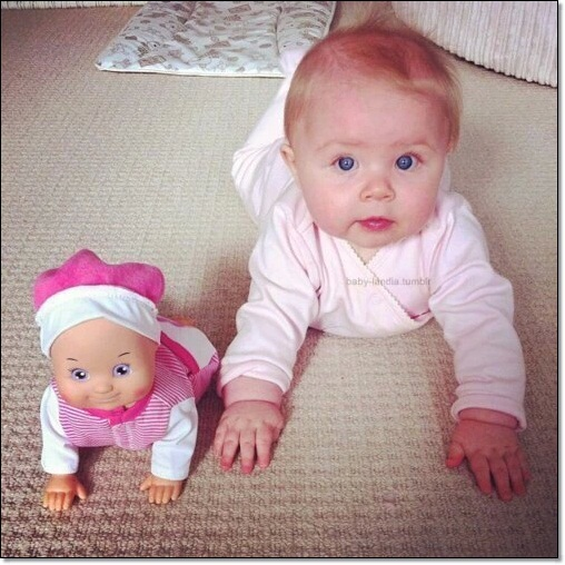 Matcing Baby and Dolls