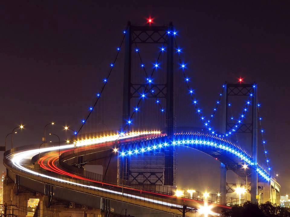 Most popular bridges night view - San pedro wallpaper ...