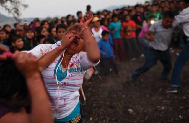 Women Fist Fights Festival In Mexico