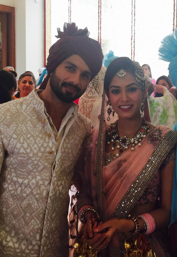 shahid kapoor and mira rajput wedding pictures
