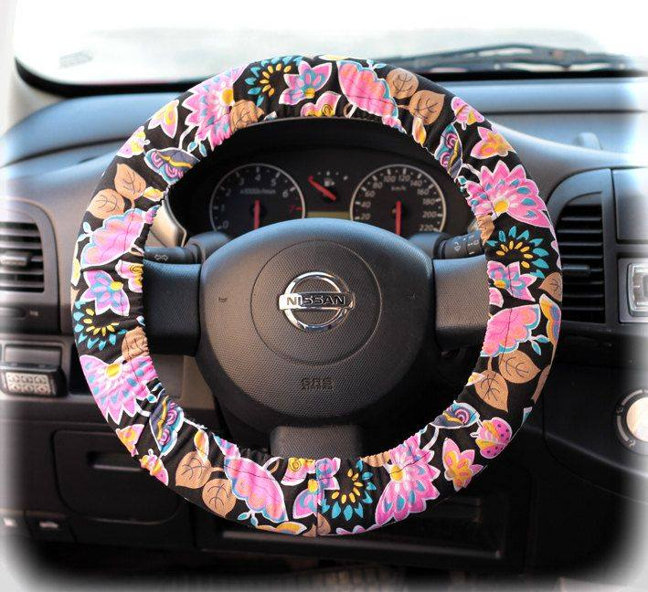 Floral Steering Wheel Cover