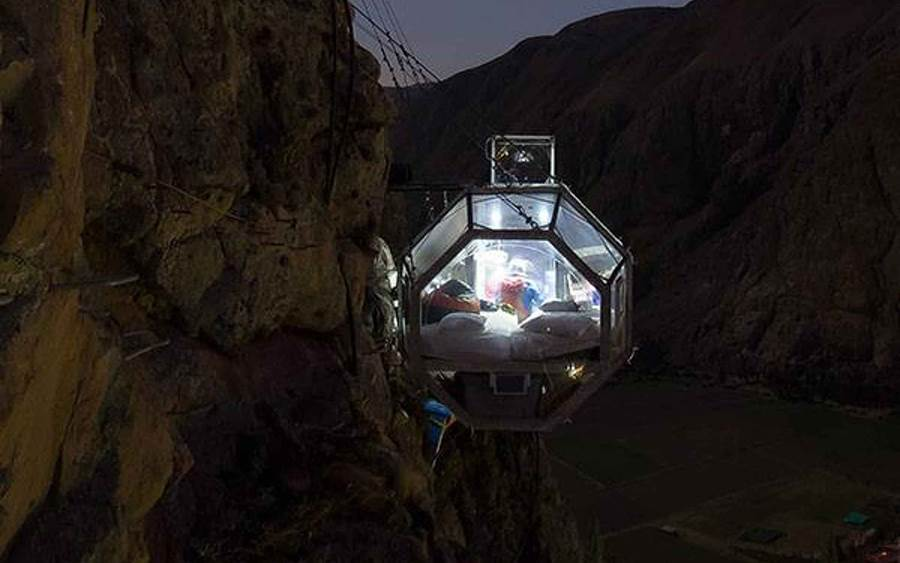 Natura Vive Skylodge offers Adventure Stay in Glass Capsule