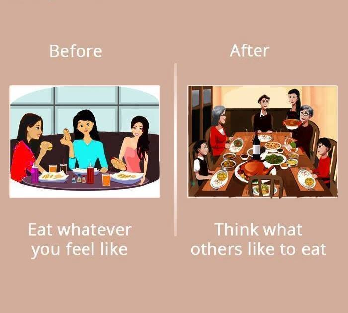 Girls Life Before and After Marriage
