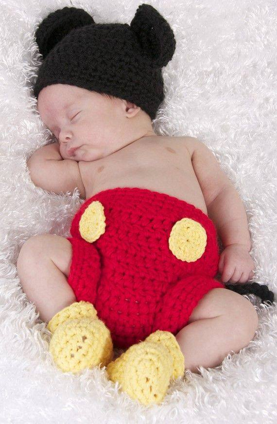 Mickey Minnie Crochet Outfits For Babies