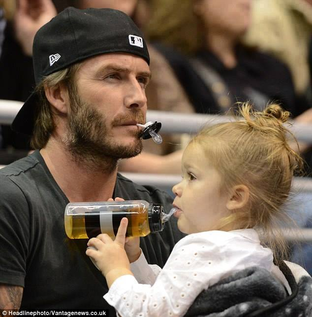 OH Daddy  David Beckham With His Daughter