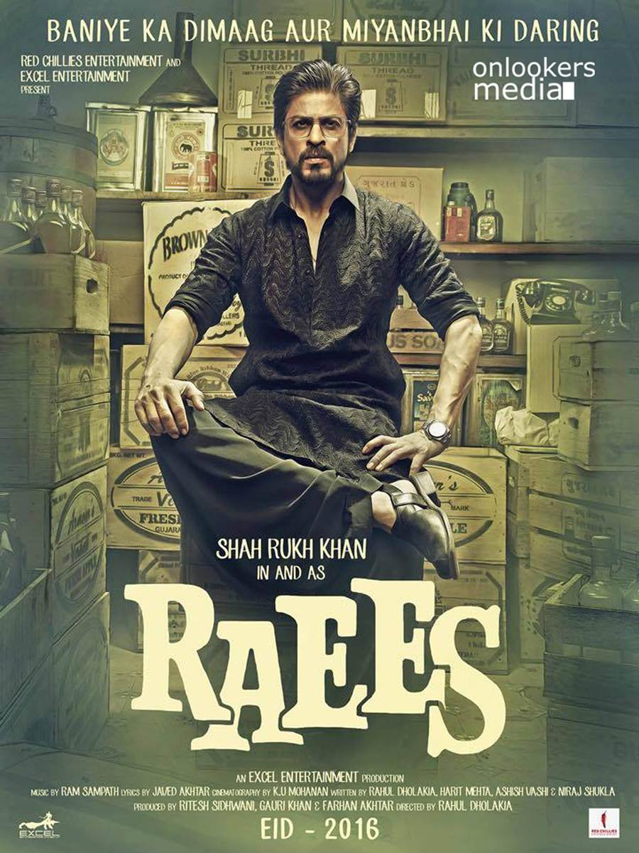 Raees Movie Poster and Trailer ft Shahrukh Khan