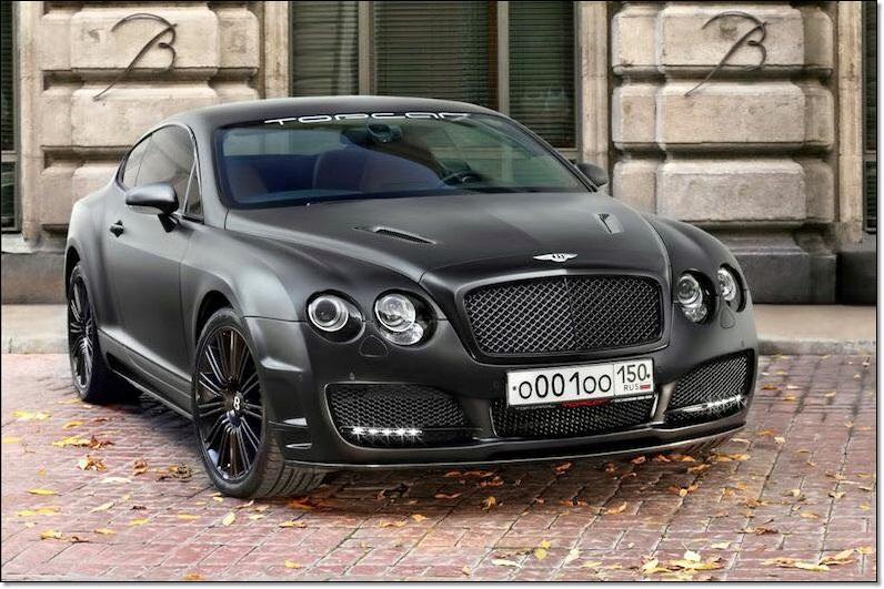 Matte Black Bentley Continental GT