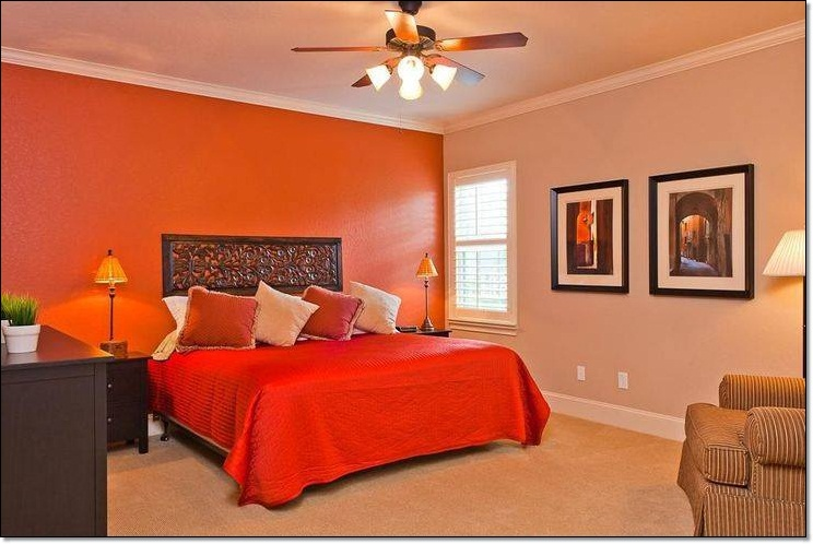 Bedroom painting ideas orange - Orange bedroom decorating ideas ...
