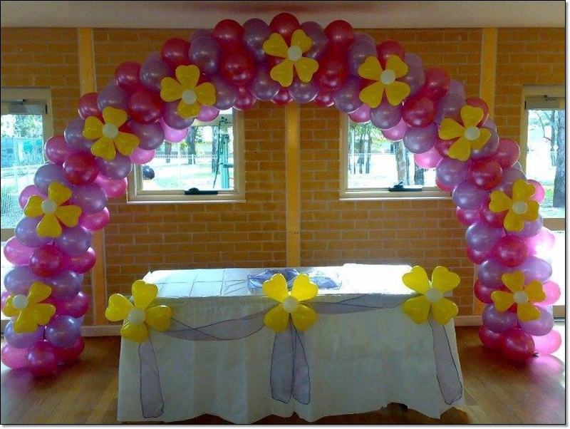 Balloons decoration ideas for birthday party for 1st birthday party decoration ideas at home