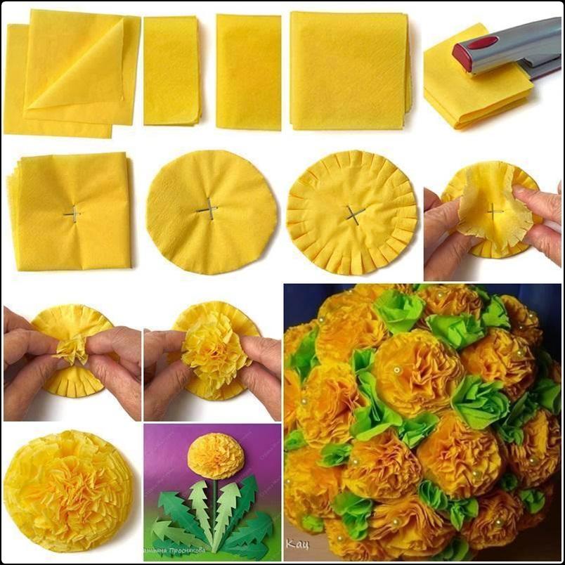 DIY Tissue Paper Flower Tutorials - XciteFun.net