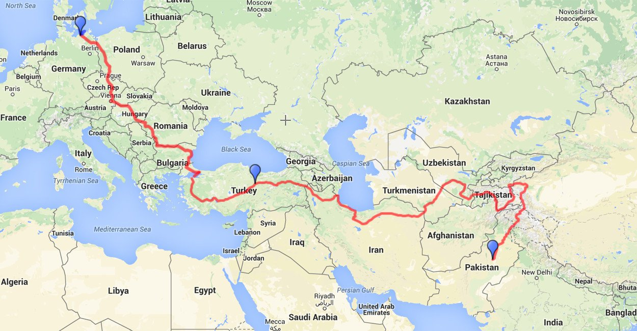 From Germany To Layyah XciteFunnet - Germany road map 2015